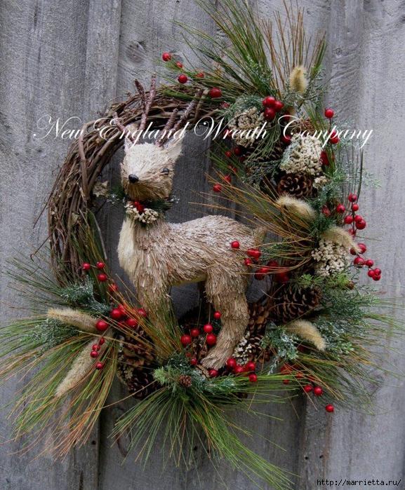 Рождественские ОЛЕНИ из пробок и веток (28) (577x700, 437Kb)