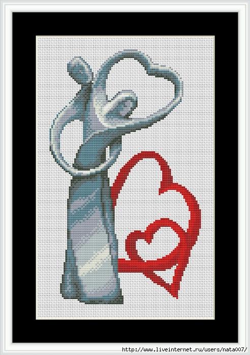 Amore- tela bianca (492x700,