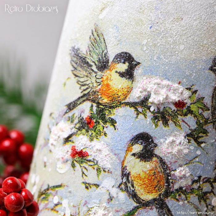 плетение из газет. рождественские идеи (1) (700x700, 450Kb)