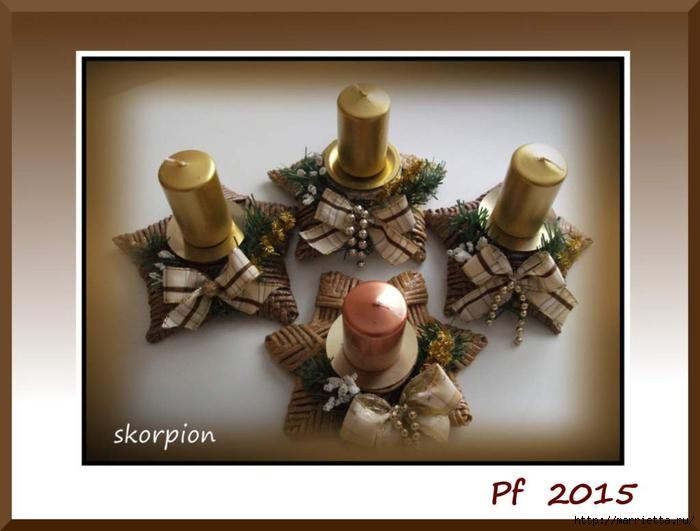 плетение из газет. рождественские идеи (3) (700x531, 174Kb)