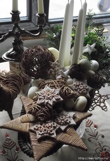 плетение из газет. рождественские идеи (5) (438x640, 158Kb)