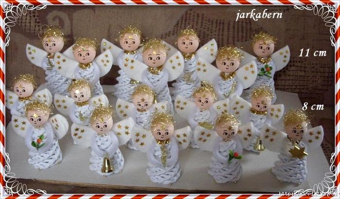 плетение из газет. рождественские идеи (22) (700x410, 267Kb)
