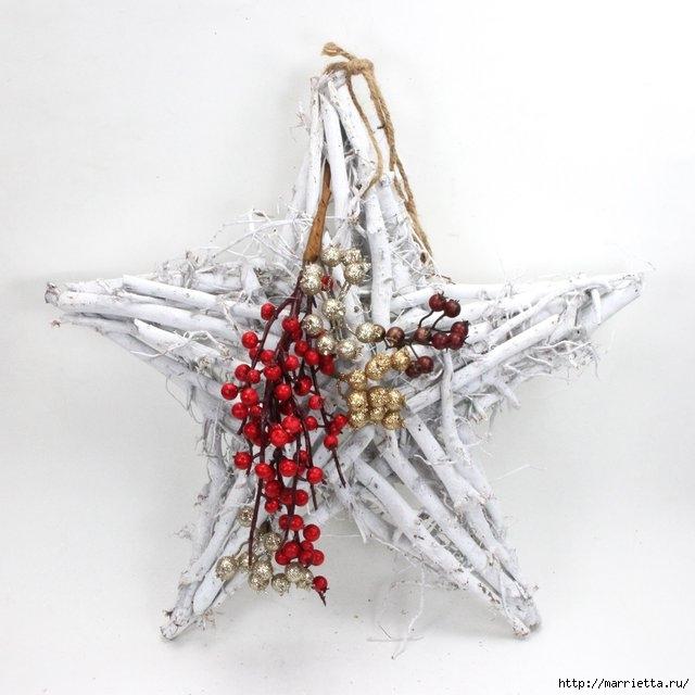 плетение из газет. рождественские идеи (28) (640x640, 151Kb)
