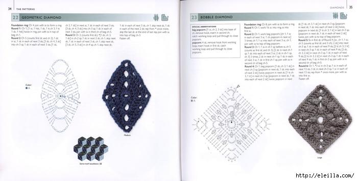 150 Knit & Crochet Motifs_H.Lodinsky_Pagina 34-35 (700x355, 144Kb)