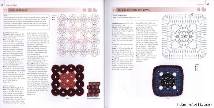 150 Knit & Crochet Motifs_H.Lodinsky_Pagina 42-43 (700x355, 191Kb)