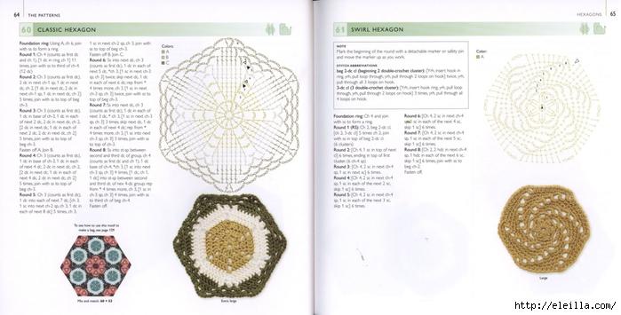 150 Knit & Crochet Motifs_H.Lodinsky_Pagina 64-65 (700x355, 171Kb)