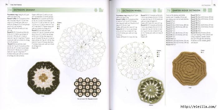 150 Knit & Crochet Motifs_H.Lodinsky_Pagina 74-75 (700x355, 169Kb)