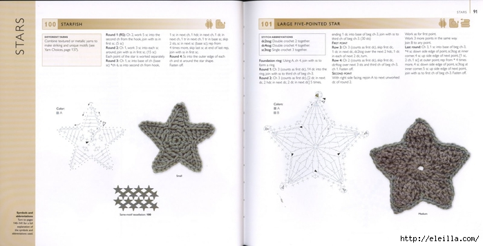150 Knit & Crochet Motifs_H.Lodinsky_Pagina 90-91 (700x357, 132Kb)
