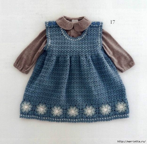 Одежда крючком для детей до 12 месяцев. Японский журнал (1) (625x615, 235Kb)