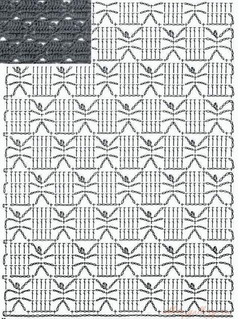 Схема вязания крючком японские журналы 53