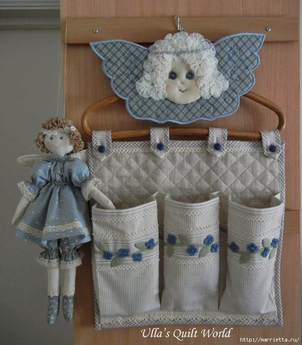 Текстильная подвеска - ангел с цветочками йо-йо (3) (613x700, 310Kb)