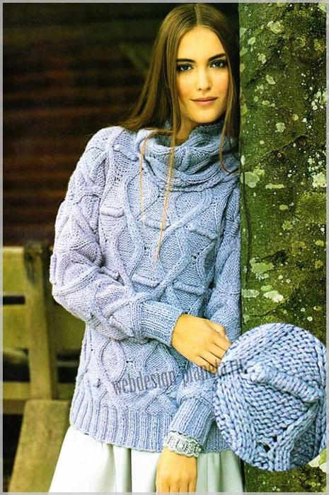 vyazanye-pulover-i-snud-na-spitsah-foto (465x700, 423Kb)