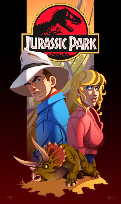 jurassic_park__the_sick_trike_by_ubegovic-d5cc1ob (415x700, 269Kb)