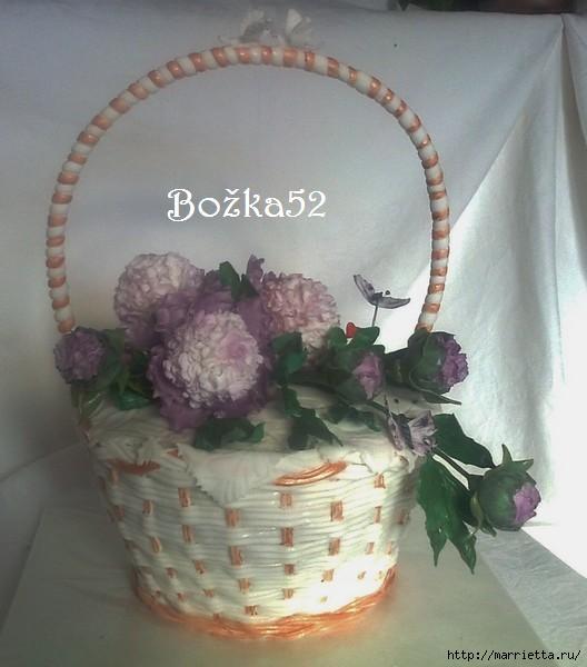 ПИОНЫ из сахарной мастики для свадебного торта (1) (528x600, 115Kb)