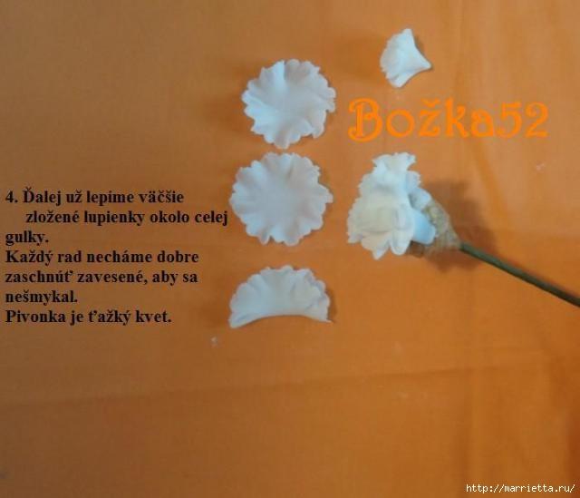 ПИОНЫ из сахарной мастики для свадебного торта (5) (640x549, 96Kb)