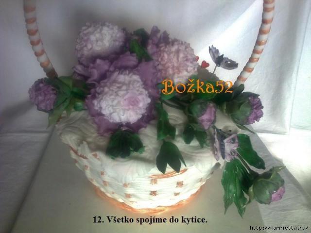 ПИОНЫ из сахарной мастики для свадебного торта (13) (640x480, 117Kb)