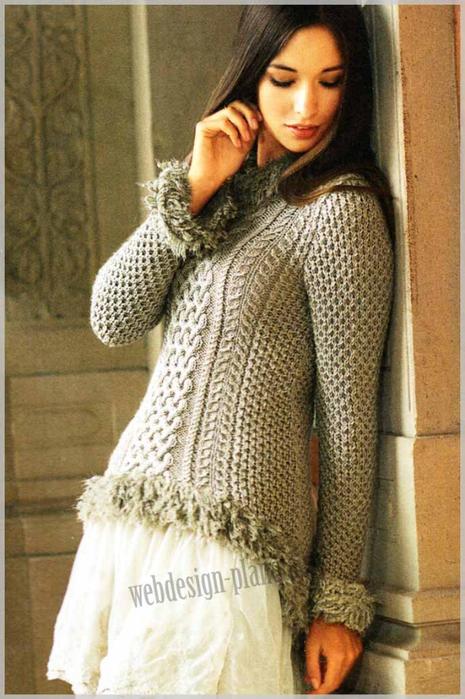 bezhevyj-uzorchatyj-zhenskij-pulover-spitsami-foto (465x700, 367Kb)