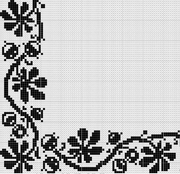 Черно белые схемы для вышивки крест