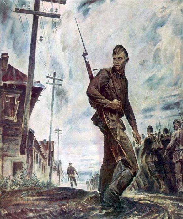 Великая Отечественная Война. На фронт (видео и картины)