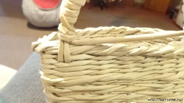 Способ плетения ручки для корзинки из газет (28) (640x360, 156Kb)