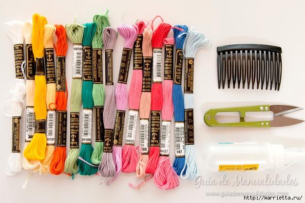 Декорирование гребешка для волос нитками мулине (1) (626x417, 209Kb)