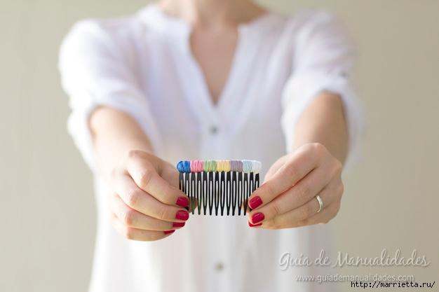 Декорирование гребешка для волос нитками мулине (6) (626x417, 87Kb)