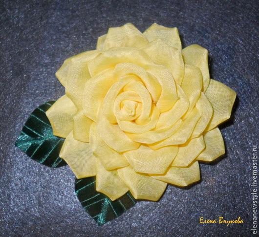 Роза своими руками для броши