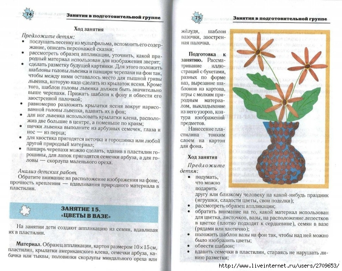 Апликация из природного материала в детском саду.page38 (700x554, 340Kb)