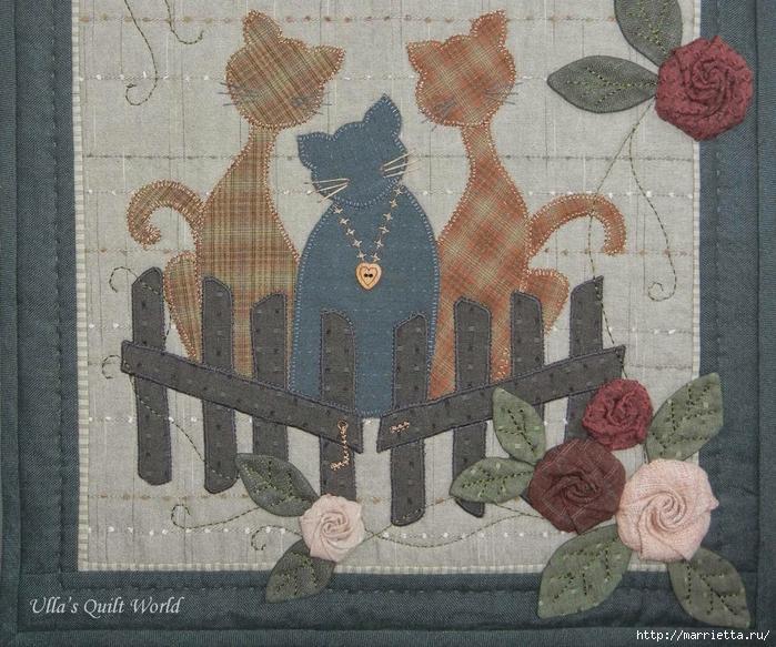 Текстильное панно с цветами из ткани (3) (700x583, 379Kb)