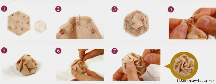 Текстильное панно с цветами из ткани (5) (700x273, 105Kb)