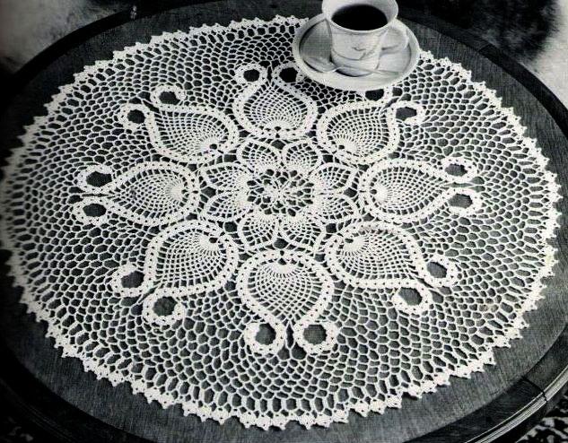 схемы салфетки крючком - Самое