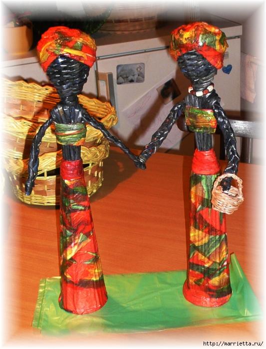 Куколки АФРИКАНКИ из газетных трубочек (4) (533x700, 314Kb)