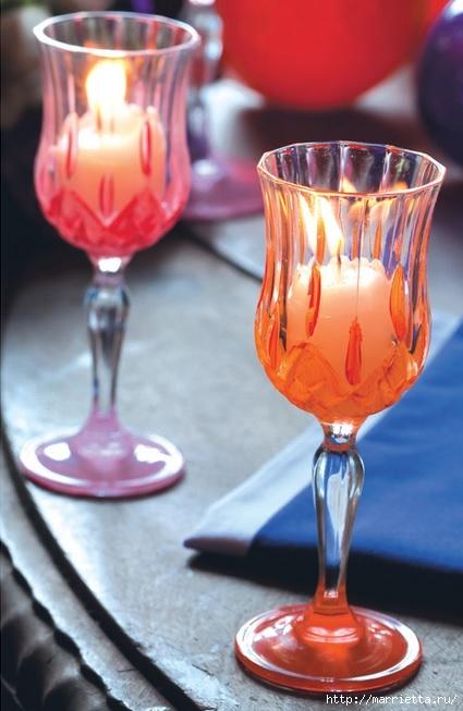 Candelabros para una noche romántica de vasos de vino (1) (425x653, 157Kb)