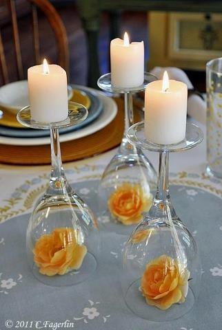 Candelabros para una noche romántica de vasos de vino (10) (322x480, 121Kb)