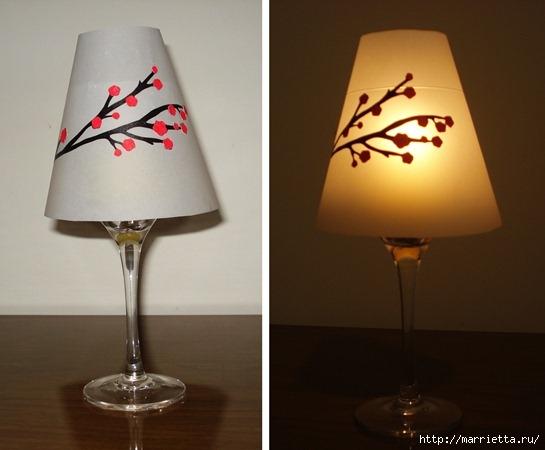 Candelabros para una noche romántica de vasos de vino (12) (545x450, 105Kb)