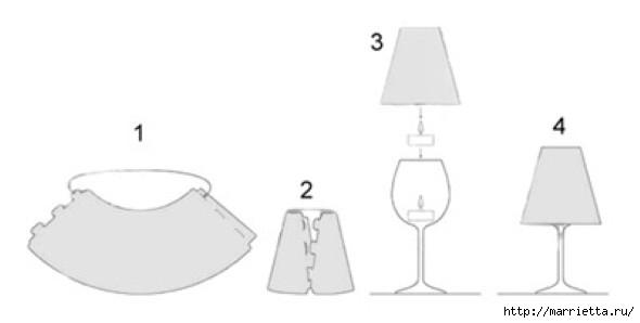 Candelabros para una noche romántica de vasos de vino (14) (590x298, 25Kb)