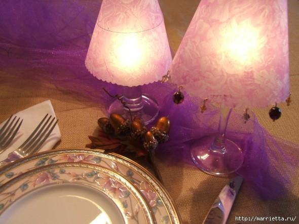 Candelabros para una noche romántica de vasos de vino (16) (590x443, 155 Kb)