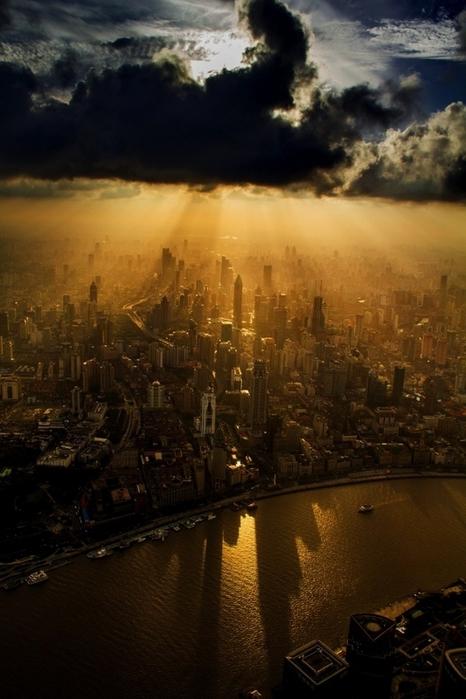 Вид на Шанхай (466x700, 230Kb)