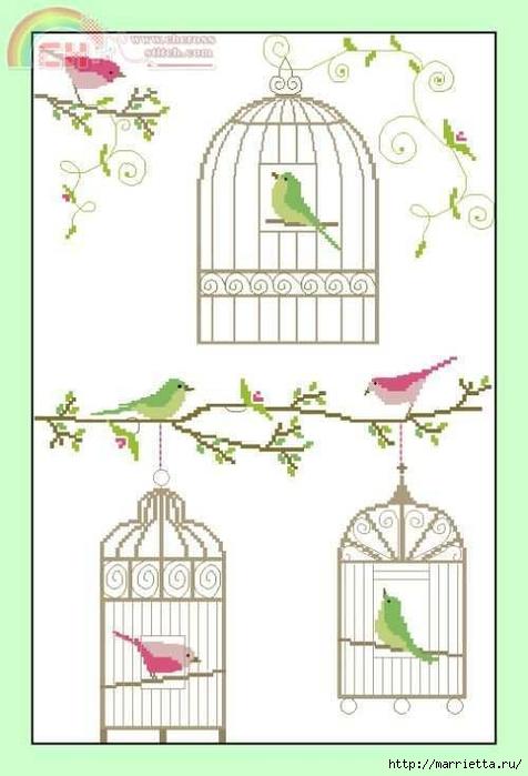 Птички в клетках. Схемы