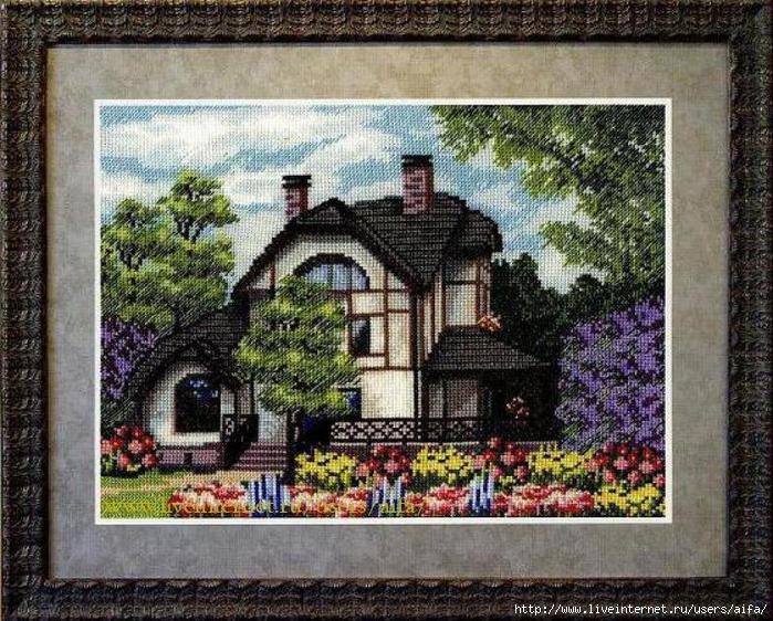 Схемы вышивок домов 78
