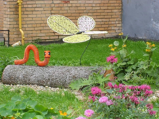 Идеи поделок для сада и огорода своими руками фото