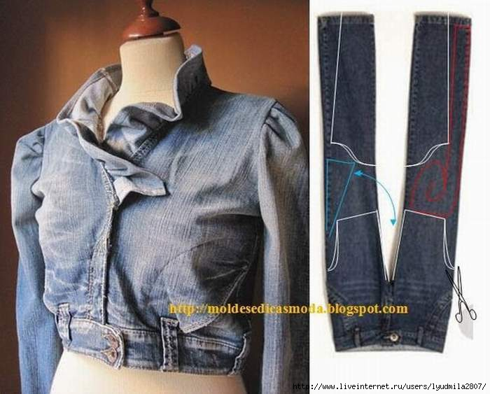 Как из юбки сделать жакет