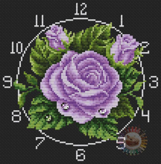 Rose violet (687x700, 577Kb)