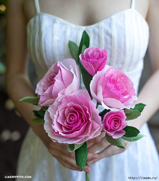 Ombre_Crepe_Paper_Rose_Bouquet (560x637, 262Kb)