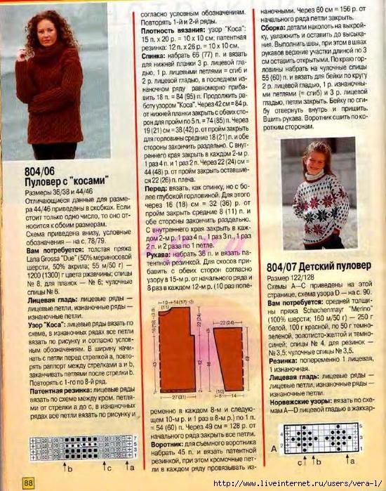 Burda special - E804 - 2004_RUS - Учимся вязать на спицах_87 (550x700, 417Kb)