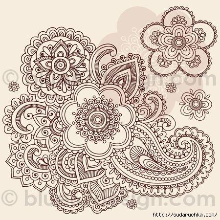 Рисунки для росписи хной. Трафареты ...: www.sudaruchka.com/post350926967