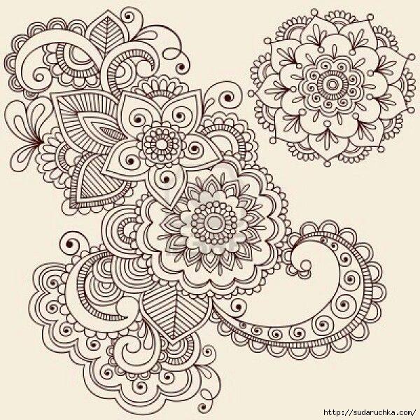 Рисунки для росписи хной. Трафареты ...: www.liveinternet.ru/users/3154779/post351038304