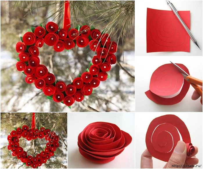Creative-Ideas-DIY-Heart-Shaped-Paper-Rose-Valentine-Wre (700x583, 316Kb)