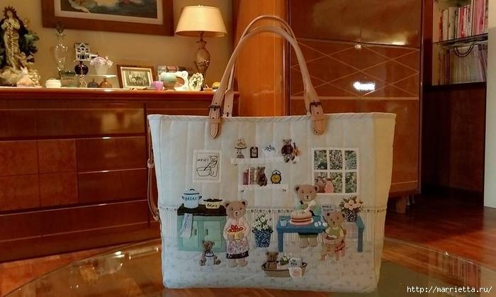 сумочка с лоскутной аппликацией (2) (700x419, 206Kb)