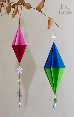 Украшения для елочки в технике оригами (16) (300x476, 61Kb)